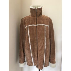 Wilson Brown Leather Suede Maxima Jacket